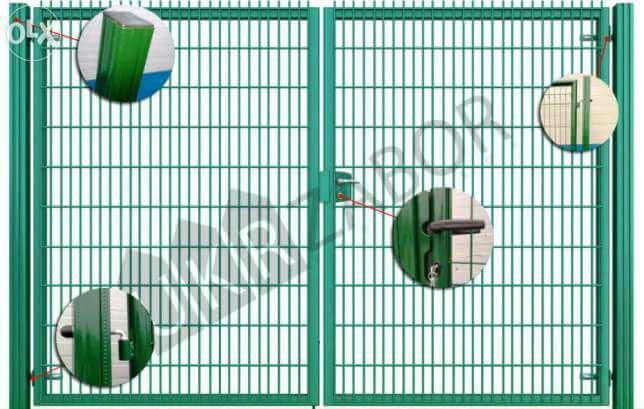 Панели ворот сетчатые из плетеной сетки